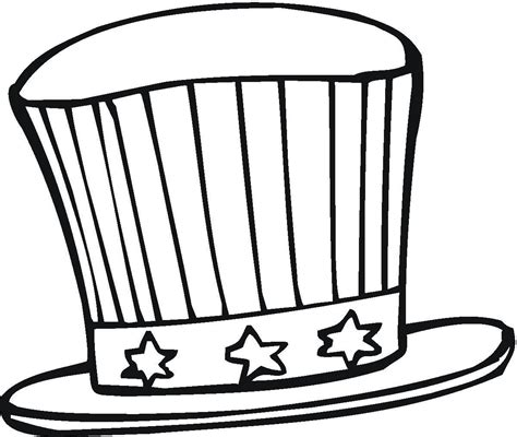 Sombrero De Mago Para Colorear Imagui Usa Hat Coloring Pages Usa
