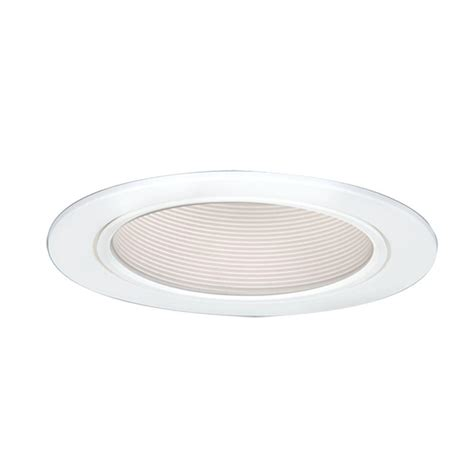 Ceiling Light Reflector Halo 5 In White Cfl Recessed Ceiling Light Baffle Trim With Reflector 5016w The Home Depot