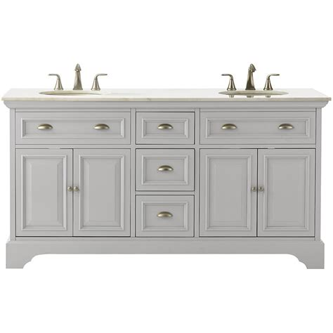 Home Decor Bathroom Vanities Home Decorators Collection 67 In W Bath Vanity In Dove Grey With Marble Vanity Top