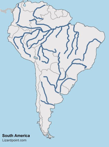 south america map with rivers test your geography knowledge south america rivers and