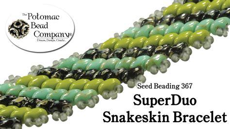 the bead company superduo snakeskin bracelet