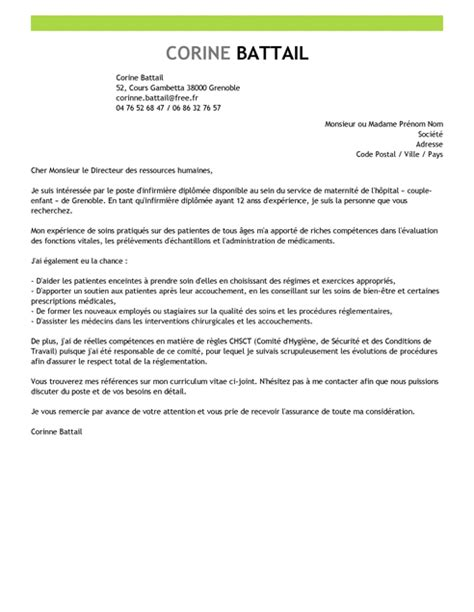 Lettre De Motivation Ecole Soins Infirmiers Lettre De Motivation Infirmi 232 Re Autoris 233 E Exemple Lettre