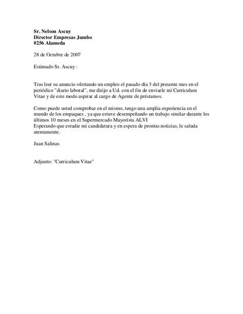 Modelo De Carta De Presentacion Para Un Curriculum Vitae Curriculum Vitae Carta Presentacion