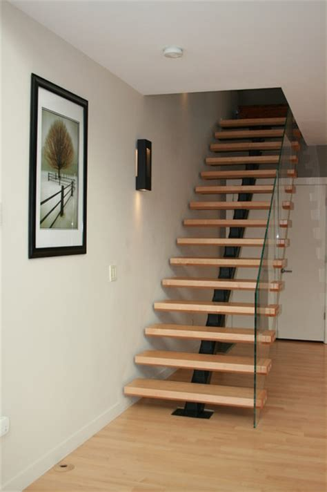 Ideas For Bathrooms Remodelling floating stair transitional staircase boston by