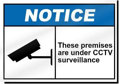 these premises are under cctv surveillance sign   ebay