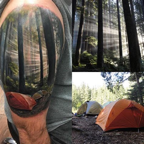 incredibly realistic camping tattoo venice tattoo art