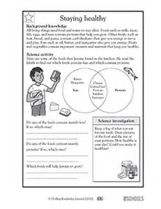 3rd grade 4th grade science worksheets staying healthy