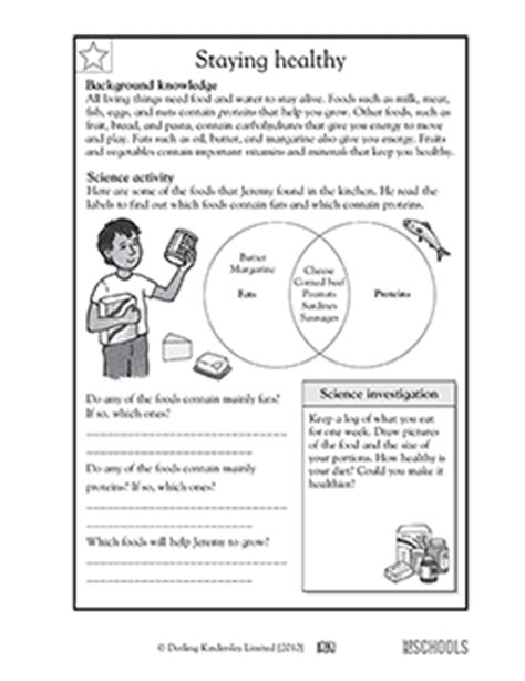 Third Grade Health Worksheets by 3rd Grade 4th Grade Science Worksheets Staying Healthy