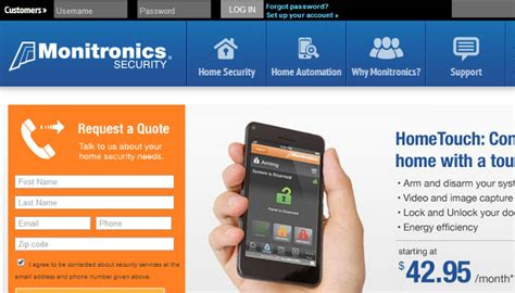 monitronics home security login home review