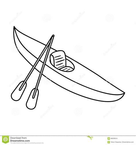 tow boat outline water transport vector illustration cartoondealer