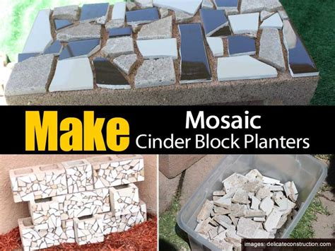 How To Make A Cinder Block Planter by How To Make Mosaic Cinder Block Planters