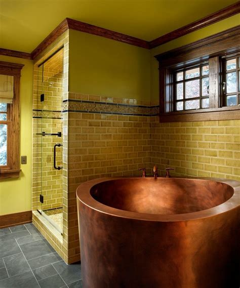 gold bathroom ideas 17 gold bathroom designs with copper bathtub