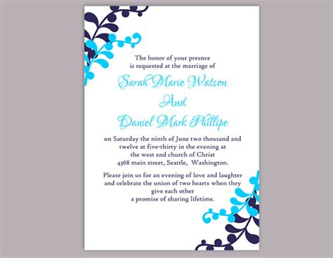 Navy Blue Wedding Invitation Templates Matik For Navy Blue Wedding Invitation Templates