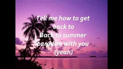 paradise testo summer paradise simple plan ft paul lyrics