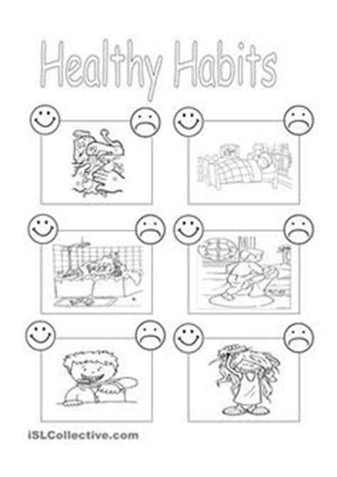 Grade 1 Habits Worksheet Kidschoolz Healthy Habits Grade 1 Worksheet Earth Day Health And Worksheets
