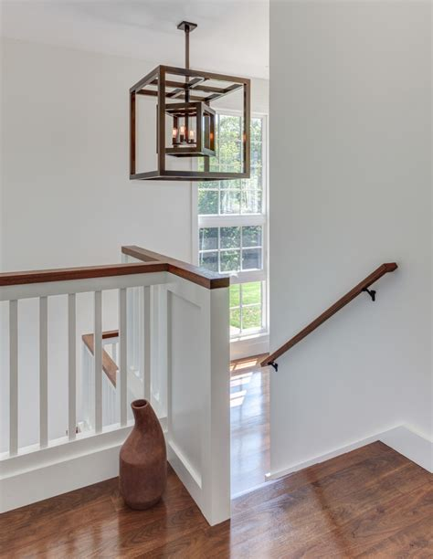 half wall staircase half wall staircase staircase contemporary with powder