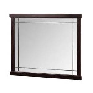 home depot bathroom mirrors foremost zen 38 in vanity mirror in espresso zeem3831