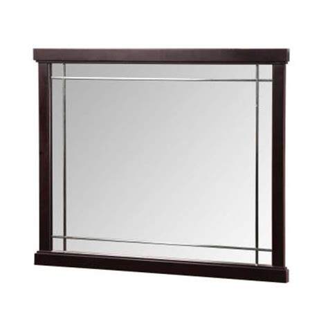 home depot mirrors bathroom foremost zen 38 in vanity mirror in espresso zeem3831