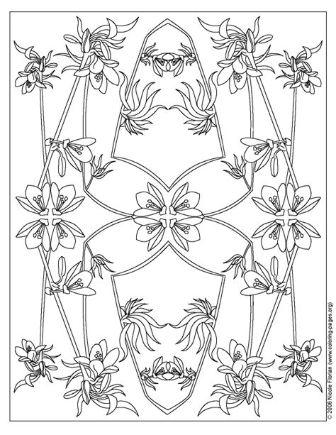 flower pattern coloring pages flower patterns to color coloring home