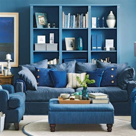 Black And Blue Living Room Ideas by Denim Blue Living Room Living Room Decorating Ideas