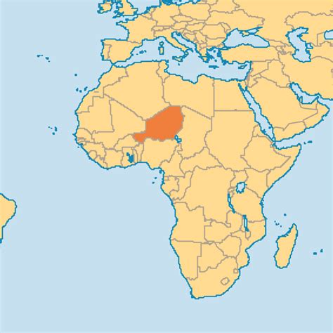 africa map niger niger
