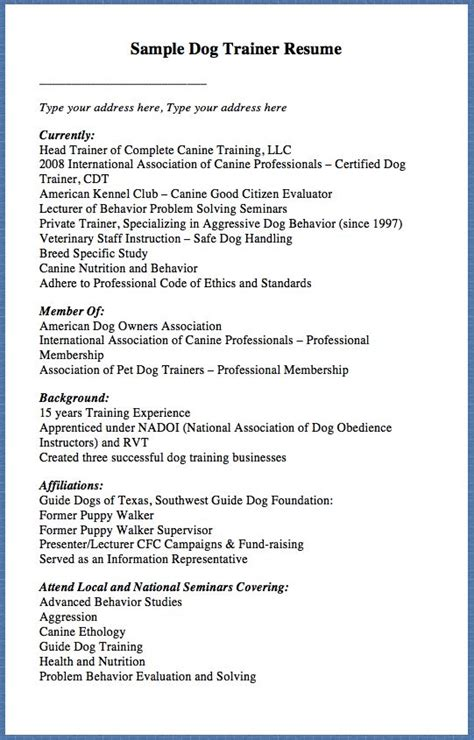 K 9 Handler Cover Letter by K9 Handler Resume K9 Handler Resume The Best Resume And Cover Letter