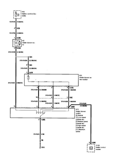 ford focus fan fuse 2002 ford focus ac diagram 26 wiring diagram images