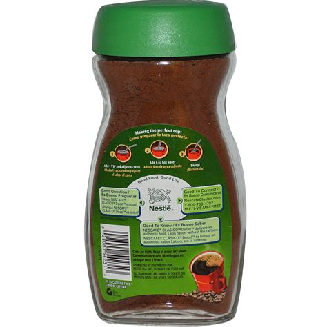 Nescafe Green Coffee nescaf 233 clasico instant decaffeinated coffee decaf