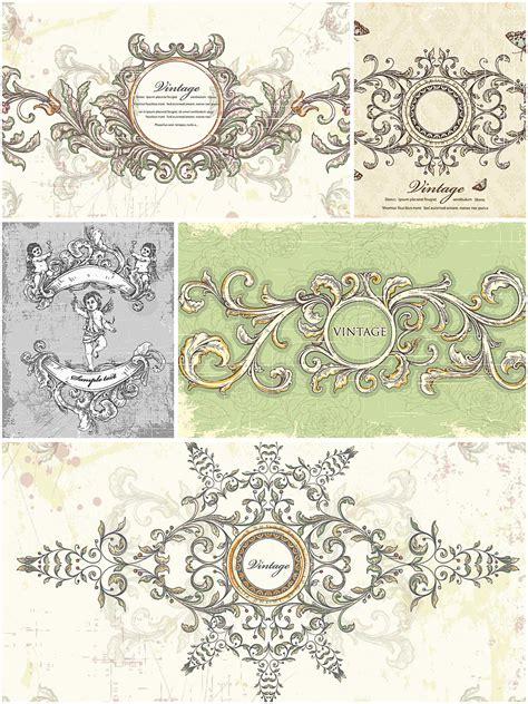 vintage wedding frames set vector free download