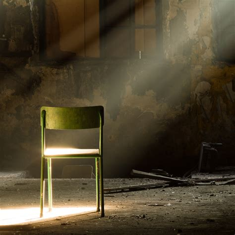 Chair Photography by A Lone Green Chair In A Room A Of Sunlight