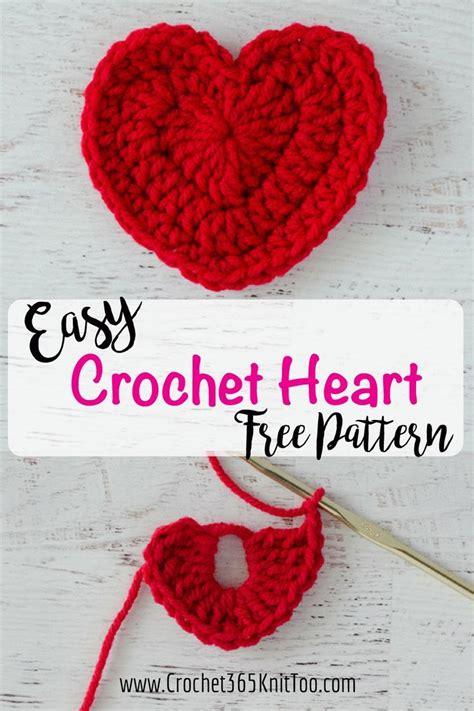 pattern crochet heart easy crochet heart pattern blogger crochet patterns we