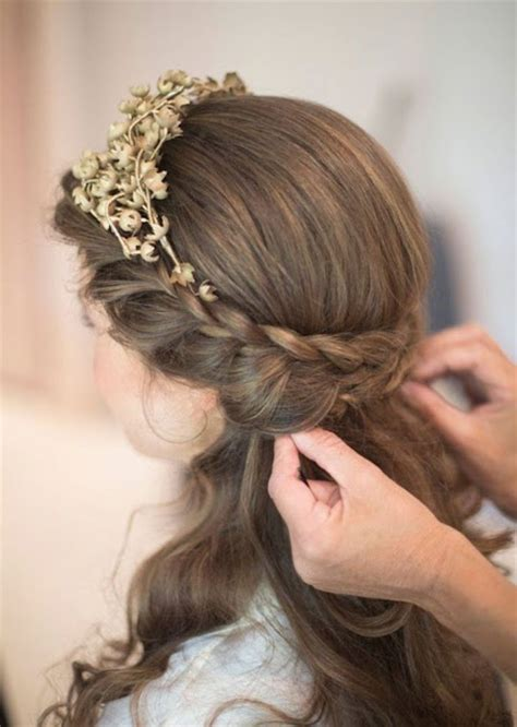 Up Hairstyles For Hair by Wedding Hairstyles For Medium Length Hair Half Up Half