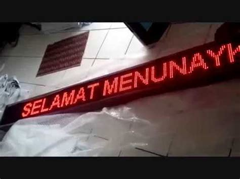 Jual Led Smd 5050 Surabaya 081297667579 Jual Running Text Led Display Murah Surabaya Deprintz Unboxing