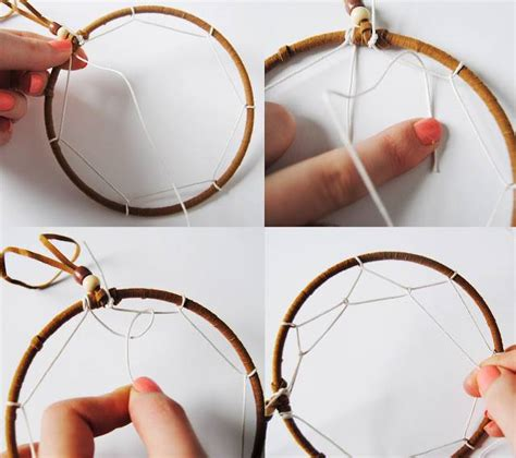 how to make catchers with how to make a dreamcatcher simple steps with pictures