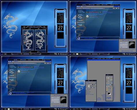 themes for windows 7 blue windows 7 theme blue dragon by tono3022 on deviantart