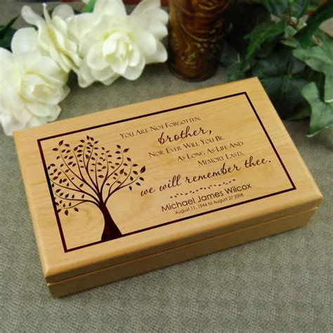 memorial gift for loss of brother keepsake memory box
