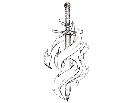 small tattoo sketches possibly use the drawing i for sword with ribbon