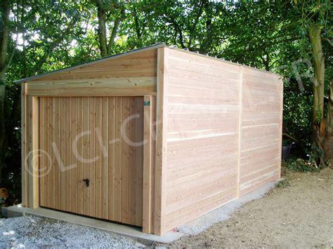 Garage En Bois En Kit 330 by Garage Jardin Lci Cheval