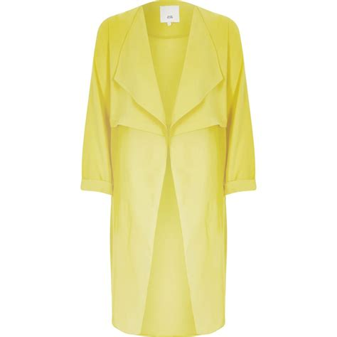 Sheer Jacket yellow sheer detail duster jacket coats jackets sale