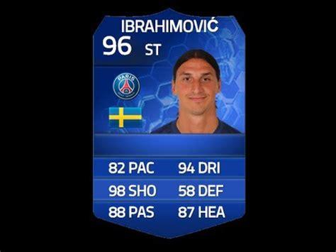 ibrahimovic tattoo fifa 14 fifa 14 toty ibrahimovic 96 player review in game stats