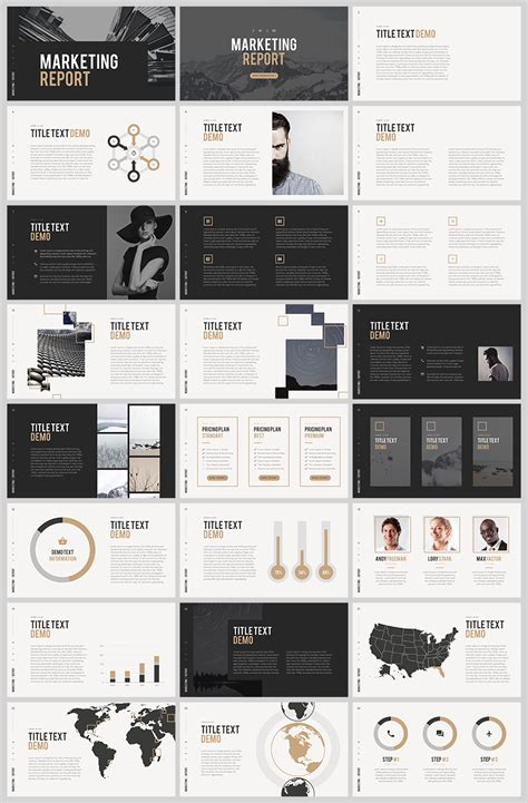 photoshop templates for presentation free powerpoint template marketing report free psd ui