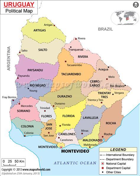 uruguay on a map uruguay karte st 228 dte