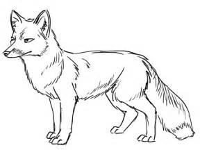 Fox Outlines by Outline Drawing Line Drawing Painting Kindergarten Worksheet Guide Kindergarten