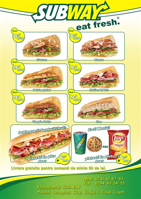 Gallery For Gt Subway Catering Flyer Subway Poster Template