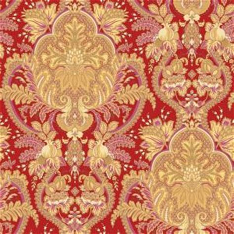 pink wallpaper home depot the wallpaper company 56 sq ft small paisley damask red