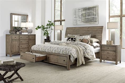 aspenhome tildon sleigh storage bedroom set in mink i56 400set