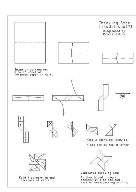 printable ninja star instructions origami throwing star printable instructions tutorial