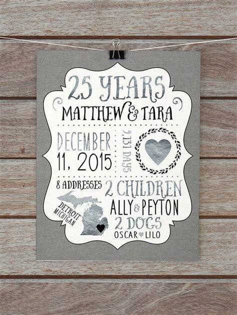 Wedding Anniversary Gift Husband by 25 Year Anniversary Gift Silver Wedding Anniversary