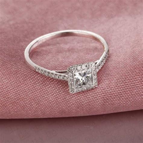 beautiful princess cut engagement ring on 10k