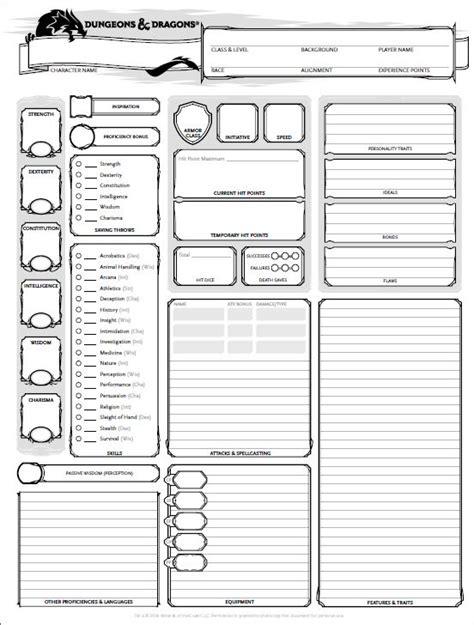 Printable Dnd Character Sheet best 25 dnd character sheet ideas on
